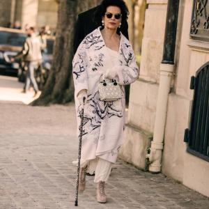 Bianca Jagger spotted with a Classic Canes cane