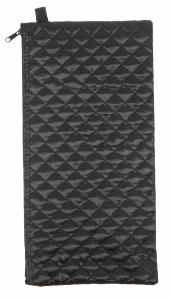 Wallet For Folding Stick, <br>black quilted
