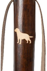 Chestnut Hiking Staff, <br>Labrador Retriever Motif