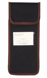 Wallet For Folding Stick, <br>black with brown trim