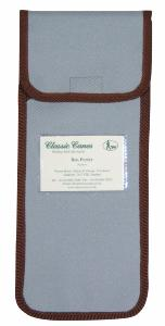 Wallet For Folding Stick, <br>pale blue with brown trim, individually packaged