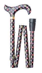 Folding Fashion Derby, <br>black with dots & daisies