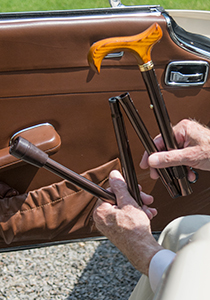 Folding cane wallets