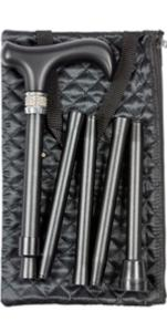 Folding Handbag Cane, <br>crystal collar