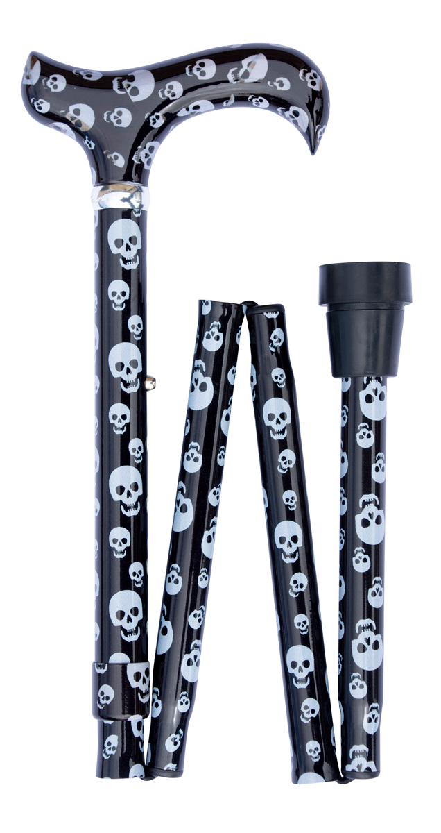Folding Contemporary Chic derby, skulls