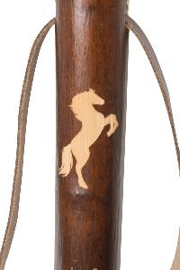 Chestnut Hiking Staff, <br>Horse Motif