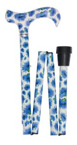 British wildflowers folding derby, cornflowers